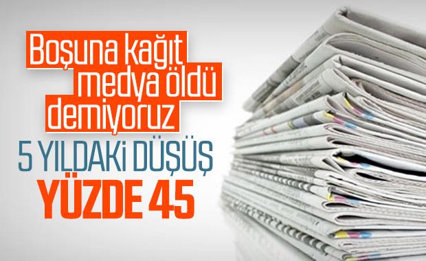 Gazete tirajları son 5 yılda dibe vurdu