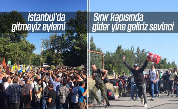 İstanbul'da eylem, sınır kapısında yoğunluk