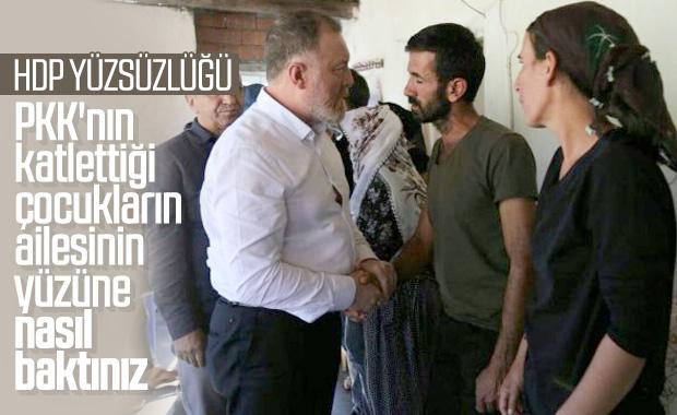 HDP, PKK'nın katlettiği çocukların ailesini ziyaret etti