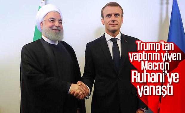 Ruhani ile Macron, ABD'ye karşı aynı fikirde