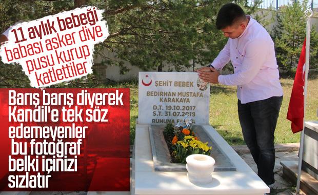 Şehit Bedirhan bebek ve annesi mezarları başında anıldı
