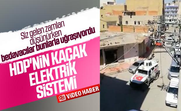 HDP'nin kaçak elektrik sistemi