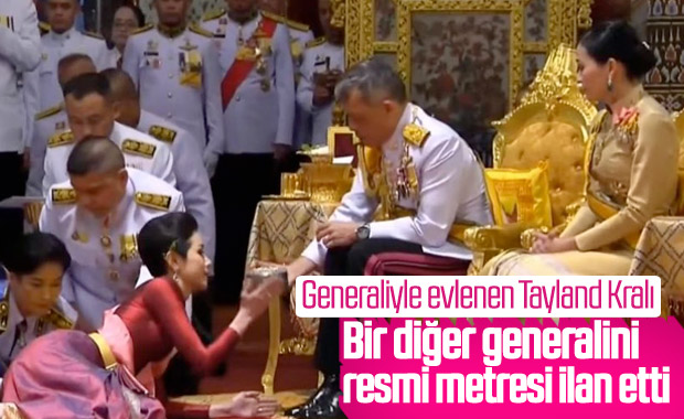 Tayland Kralı bu kez de bir generalini metresi yaptı
