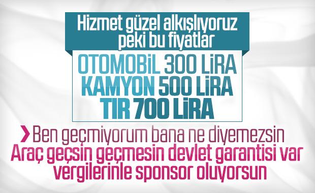 İstanbul-İzmir Otoyolu ücretleri