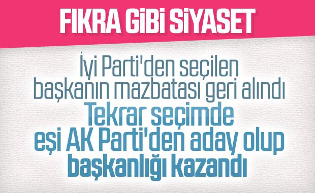 İyi Partili eşinin yerine seçilen AK Partili kadın başkan