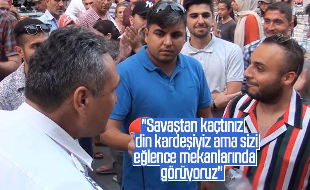 Vatandaşın Suriyeli adamla tartışması