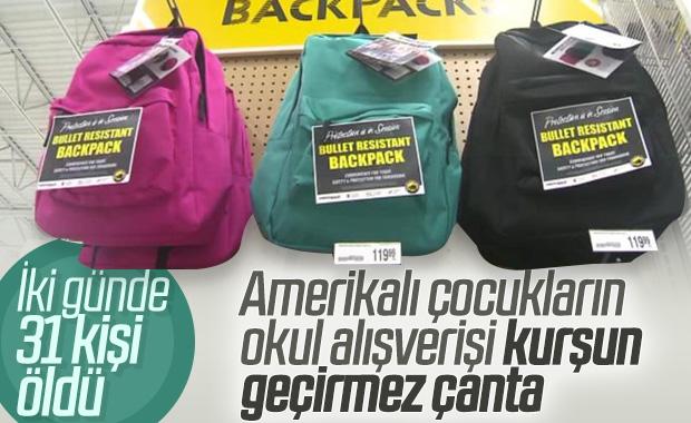 Amerikalı öğrenciler kurşun geçirmez çanta alıyor