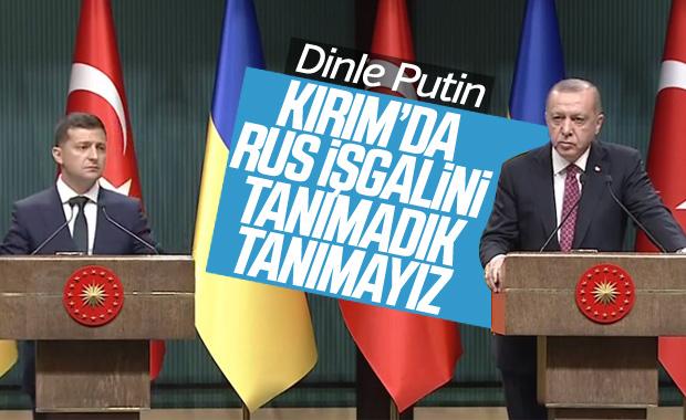 Cumhurbaşkanı Erdoğan, Ukrayna lideri ile bir araya geldi
