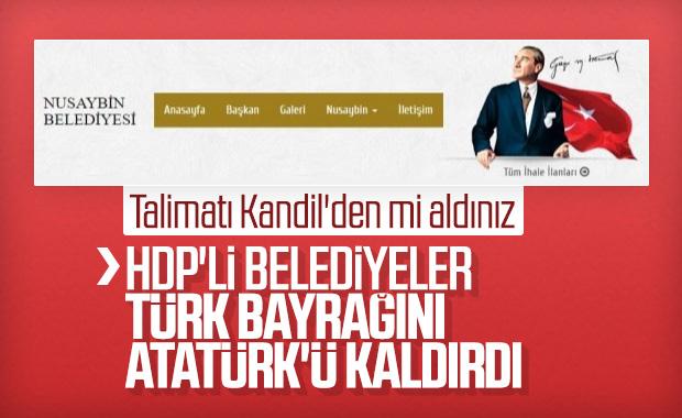 Mardin'de HDP'li belediyelerin Türk bayrağı düşmanlığı