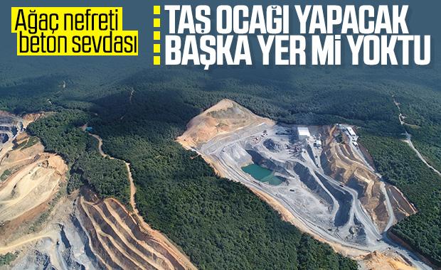 İstanbul'a taş ocaklarının verdiği zarar uydudan görüldü
