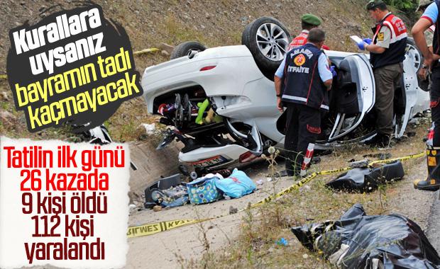 Bayram tatili yolunda kaza bilançosu: 9 ölü 112 yaralı