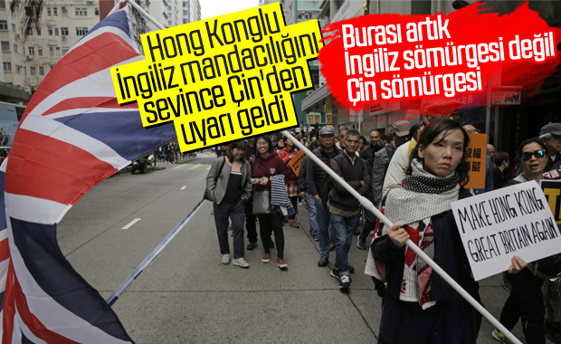 Çin, Hong Kong için İngiltere'yi uyardı