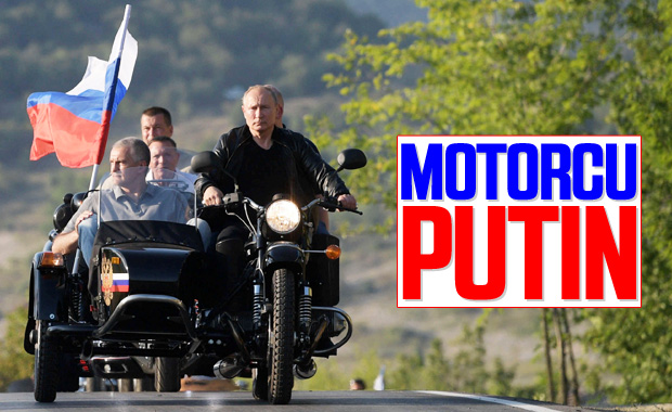 Putin motosiklete bindi
