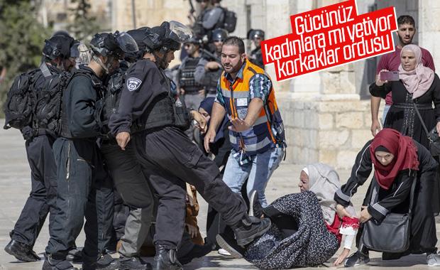 İsrail polisi Filistinli kadınlara saldırdı