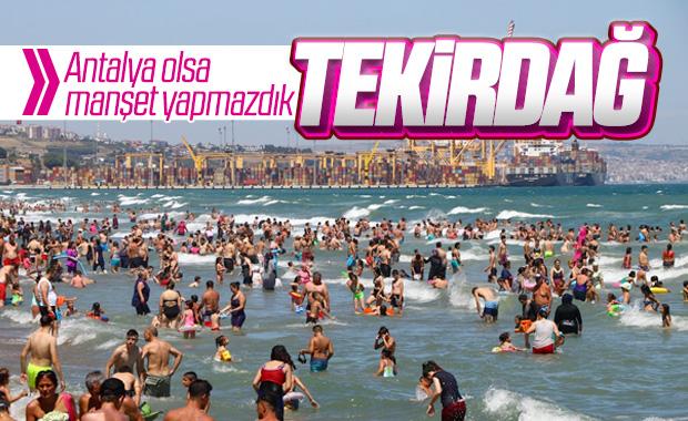 Tekirdağ'da Antalya'yı aratmayan görüntüler