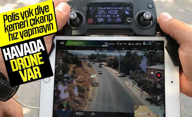 Yurt genelinde drone destekli trafik denetimi