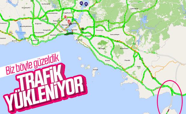 İstanbul'a dönüş trafiği