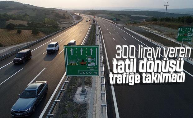 İstanbul-İzmir otoyolu üzerinde bayram trafiği yok