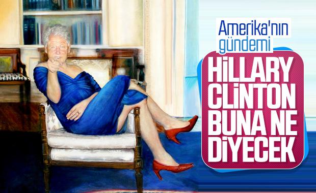 Sapık milyarderin villasında Bill Clinton tablosu