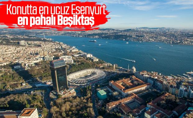 İstanbul'da konutun en ucuz ve en pahalı ilçeleri