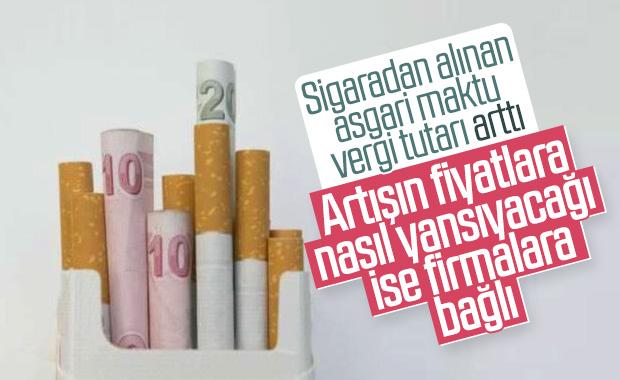 Asgari maktu vergi tutarı sigarada arttı