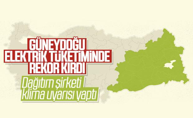 Güneydoğu Anadolu Bölgesi'nden elektrik kullanım rekoru