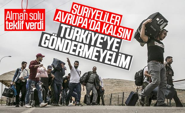 Almanya'da Suriyelileri Türkiye'ye göndermeyelim teklifi