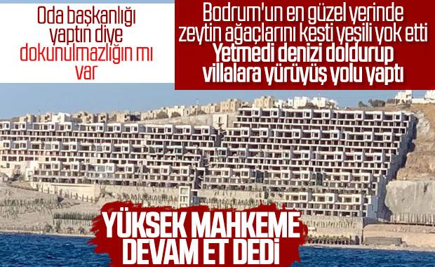 Bodrum'da tepki çeken inşaata mahkemeden izin