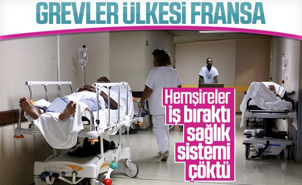 Fransa'da devlet hastanelerinde grev var