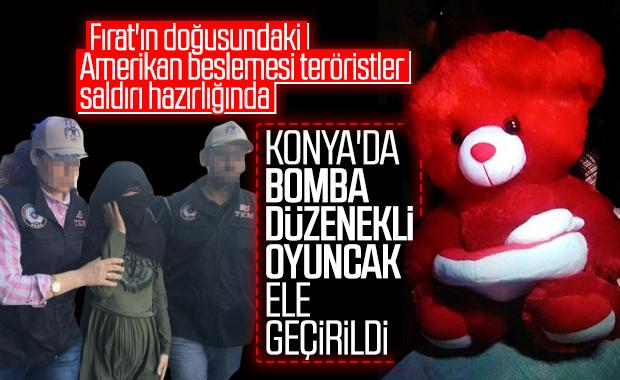 YPG'li terörist bombayı oyuncak ayının içine gizledi