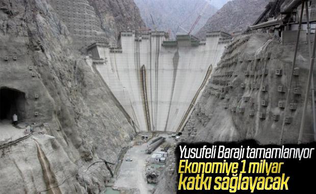 Yusufeli Barajı'nın yüzde 70'i tamamlandı