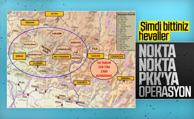 PKK'ya Kıran Operasyonu: 129 tim harekete geçti