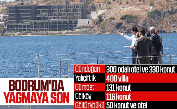 Bakan Murat Kurum Bodrum'daki kaçak yapılara dur dedi