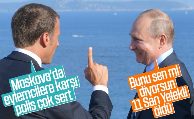 Fransa'da Macron ile Putin görüşmesi