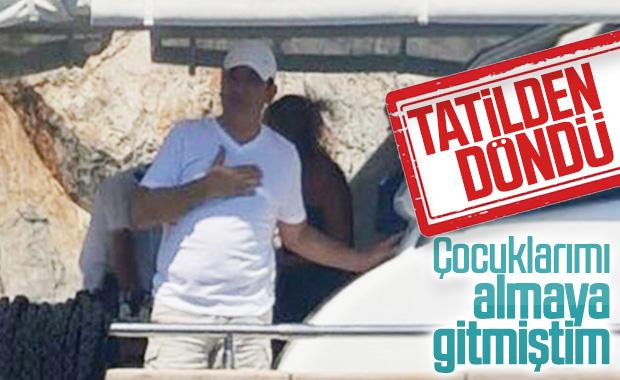 Ekrem İmamoğlu, Bodrum'dan İstanbul'a döndü