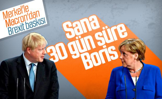 Merkel ve Macron'dan, Boris'e Brexit uyarısı