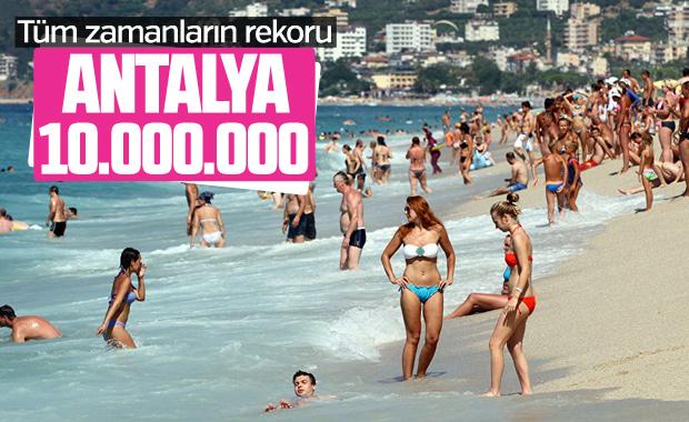 Antalya turist sayısında rekor kırdı