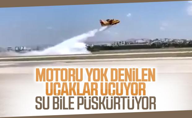 Motoru yok denilen THK uçaklarının yeni görüntüleri