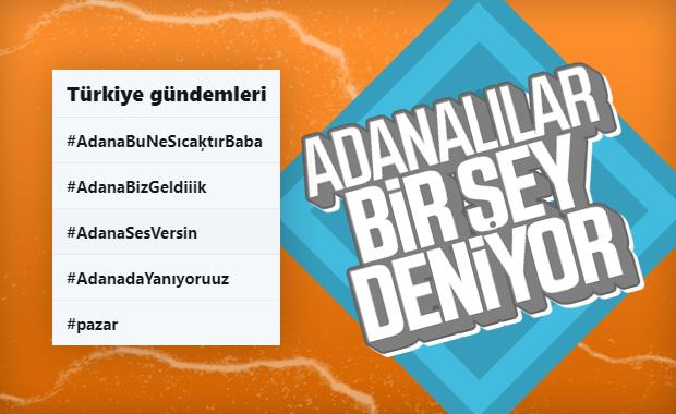 Adana, Twitter'da en çok konuşulan 4 başlık oldu