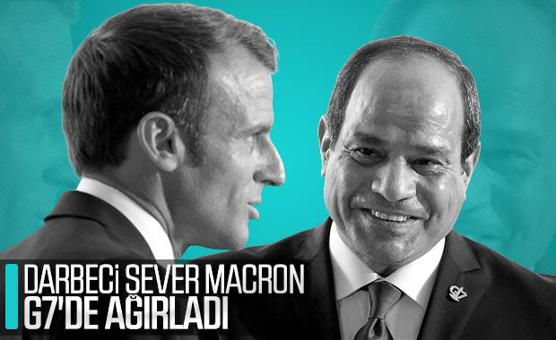 Macron, darbeci Sisi'yi ağırladı
