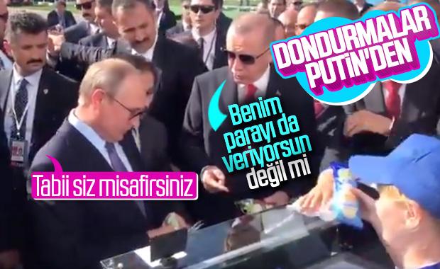 Putin'den Erdoğan'a dondurma ikramı