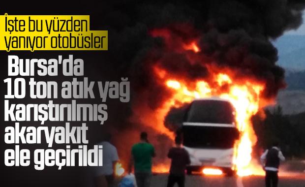 Bursa'da atık yağ karıştırılmış 10 ton yakıt bulundu