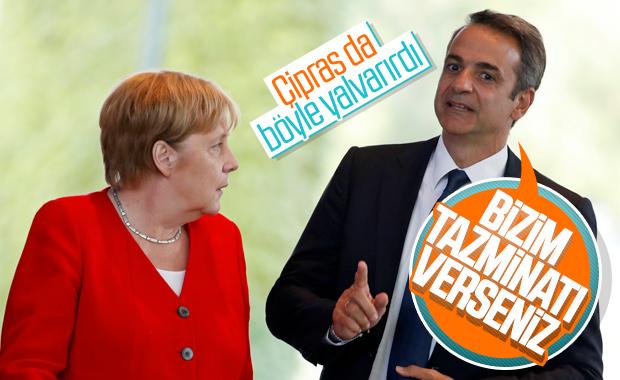 Yunan Başbakan Miçotakis de Merkel'den tazminat istedi