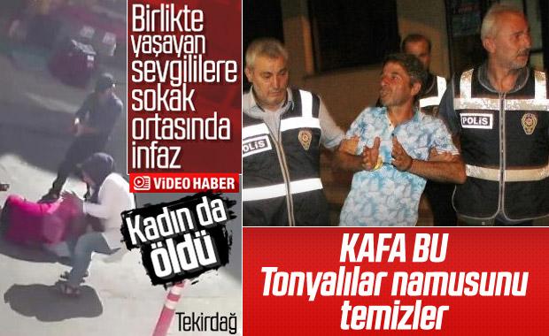 Tekirdağ'da sevgili çifte sokakta silahlı saldırı