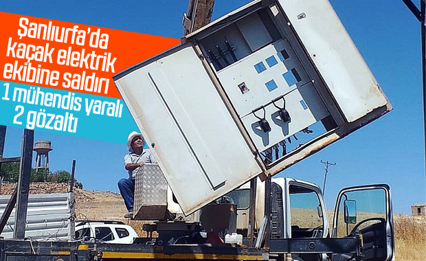 Şanlıurfa'da elektrik ekibine saldırı