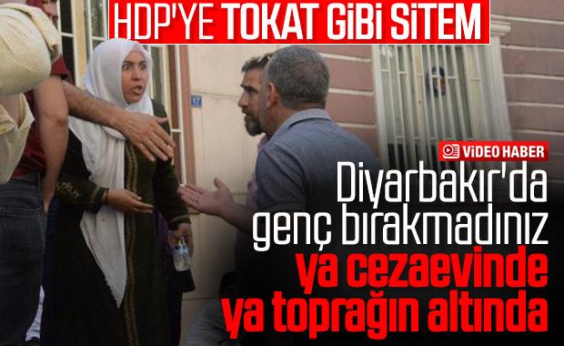 HDP binasının önünde bekleyen annenin isyanı