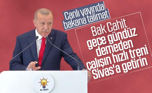 Cumhurbaşkanı Erdoğan'ın Sivas'a hızlı tren müjdesi