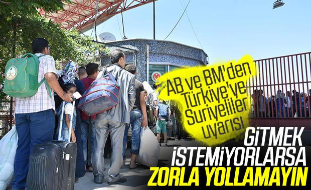 AB ve BM'den Suriyeliler için Türkiye'ye uyarı