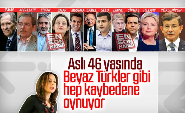 Aslı Aydıntaşbaş, Ahmet Davutoğlu'nu gazlıyor
