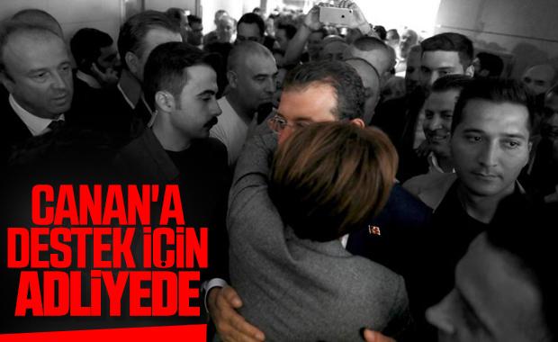 Ekrem İmamoğlu, Canan Kaftancıoğlu'na desteğe gitti